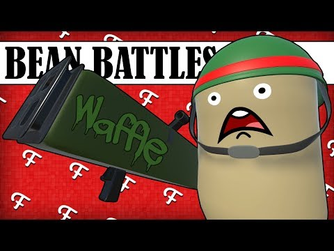 Bean Battles: Waffle Maker Weapon, Air Strike Gone Wrong, Teddy VS All (Battle Royale Comedy Gaming)