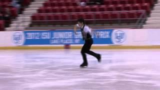 15 Keiji TANAKA (JPN) - ISU JGP Lake Placid Junior Men Free Skating.