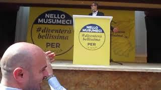Nello Musumeci comizio elezioni regionali Sicilia 2017