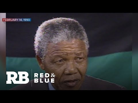 1990: Nelson Mandela reflects on time in prison with CBS News