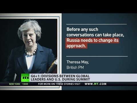 Theresa May snubbed by Trump at G7 summit