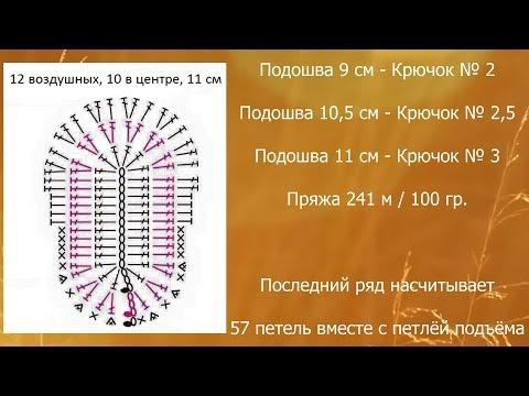 Пинетки крючком вязание схема