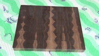 Using The Sapwood In Making An End Grain Cutting Board (Заболонь в торцевой разделочной доске)