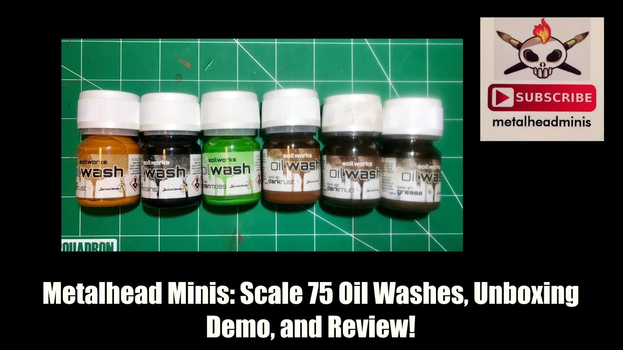 Metalhead Minis: Scale 75 Oil Washes Unboxing, Demo, and Review!