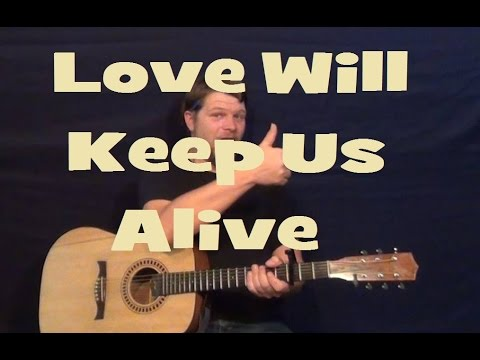 Love Will Keep Us Alive (Eagles) Easy Guitar Lesson How To Play Tutorial Licks TAB