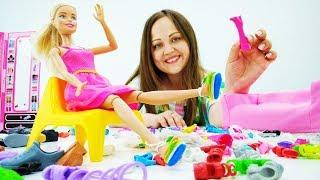 Делаем босоножки для Барби своими руками. Видео для девочек