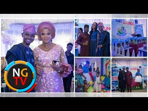 Teju baby face holds a flamboyant dedication for his twins in Lagos