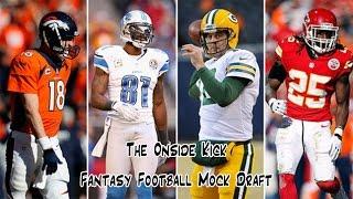 The Onside Kick Fantasy Football Mock Draft