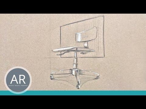 Perspektivisches Zeichnen. Innenarchitekturskizzen. Möbeldesign. Mappenkurs Innenarchitektur
