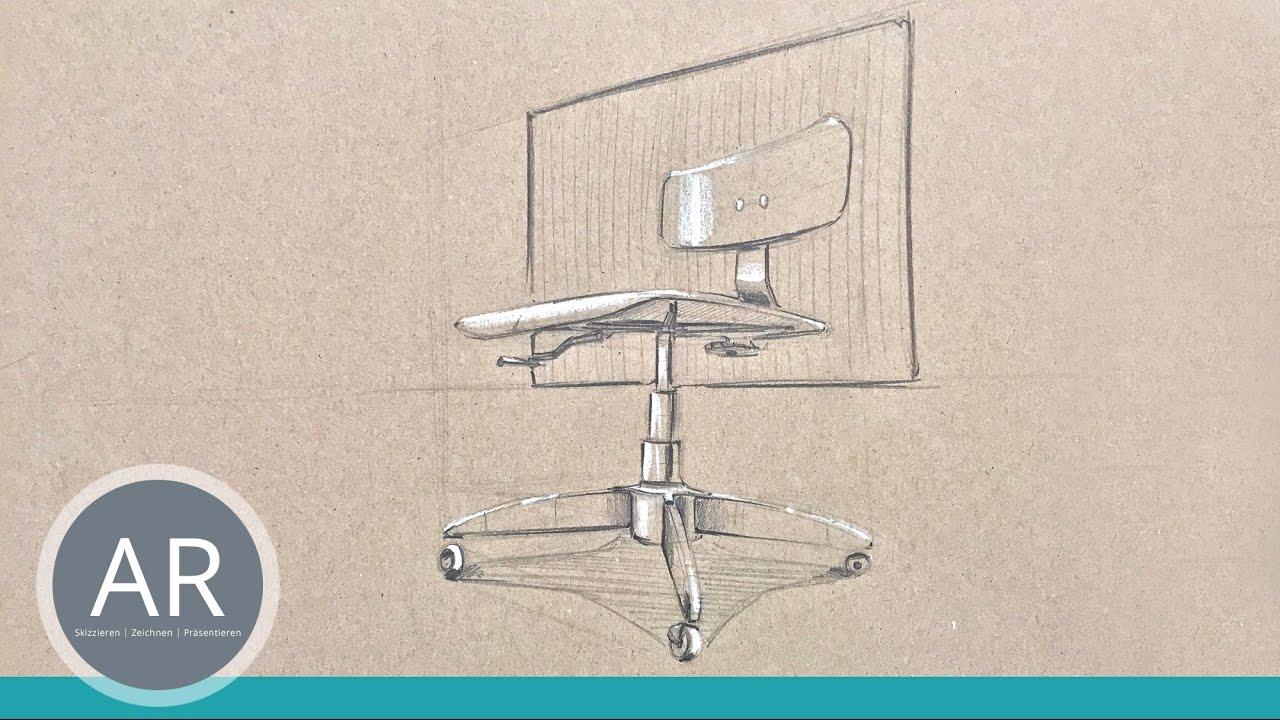 Perspektivisches Zeichnen Innenarchitekturskizzen Möbeldesign