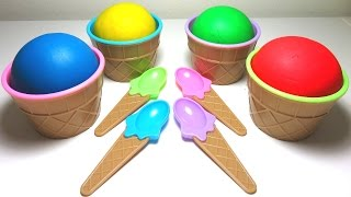 Learn Colors with Play Doh Ice Cream Surprise Egg Bubble Guppies Toys, Peppa Pig, LPS , Club Penguin