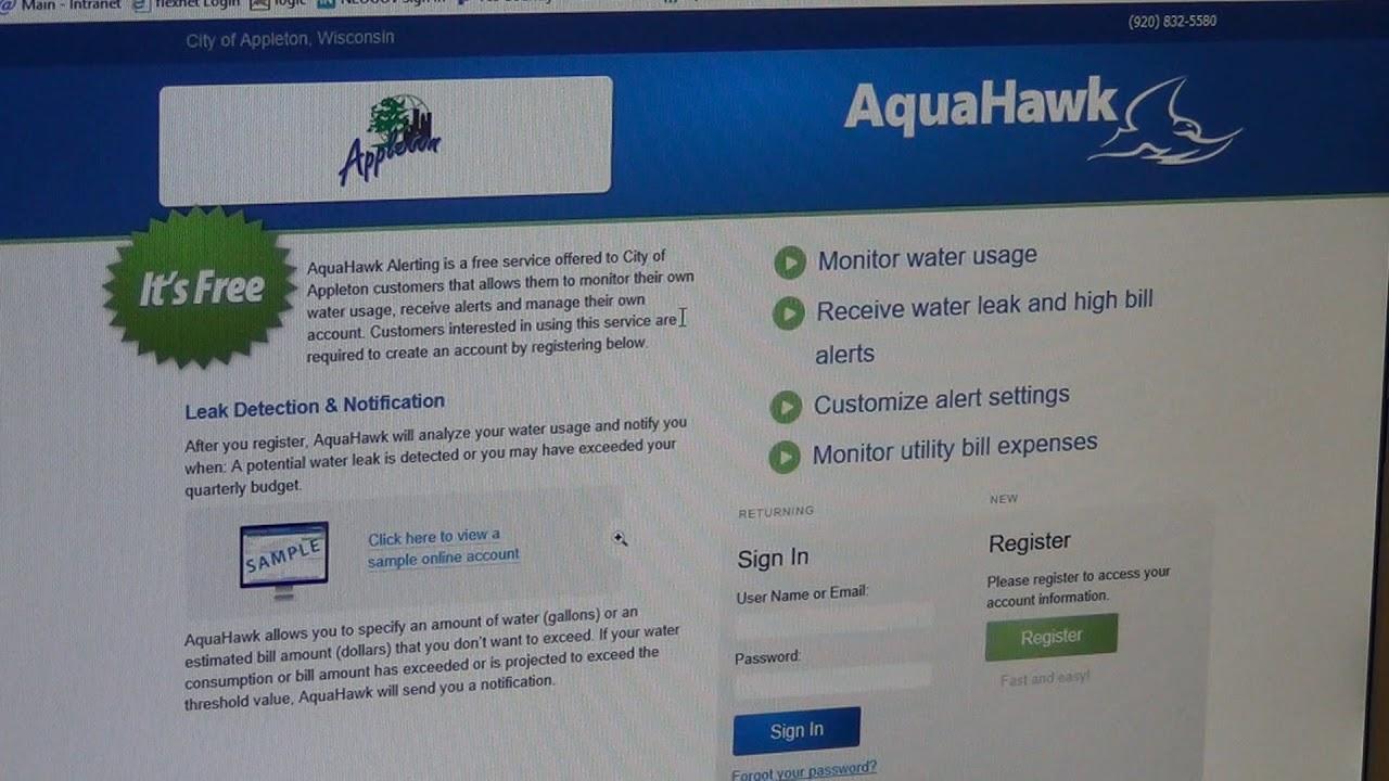 Aquahawk Water Monitoring App