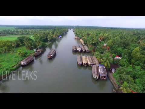 Alleppey Backwaters Kerala | Aerial View | Beautiful Alleppey Houseboats | India | HD 1080