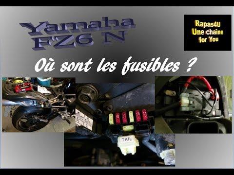 Boite à Fusibles Moto Yamaha Fz6 N Youtube