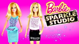 Barbie Sparkle Studio Glitter Clothes Designer Fashion Kit Decorate Doll Dresses With Dctc