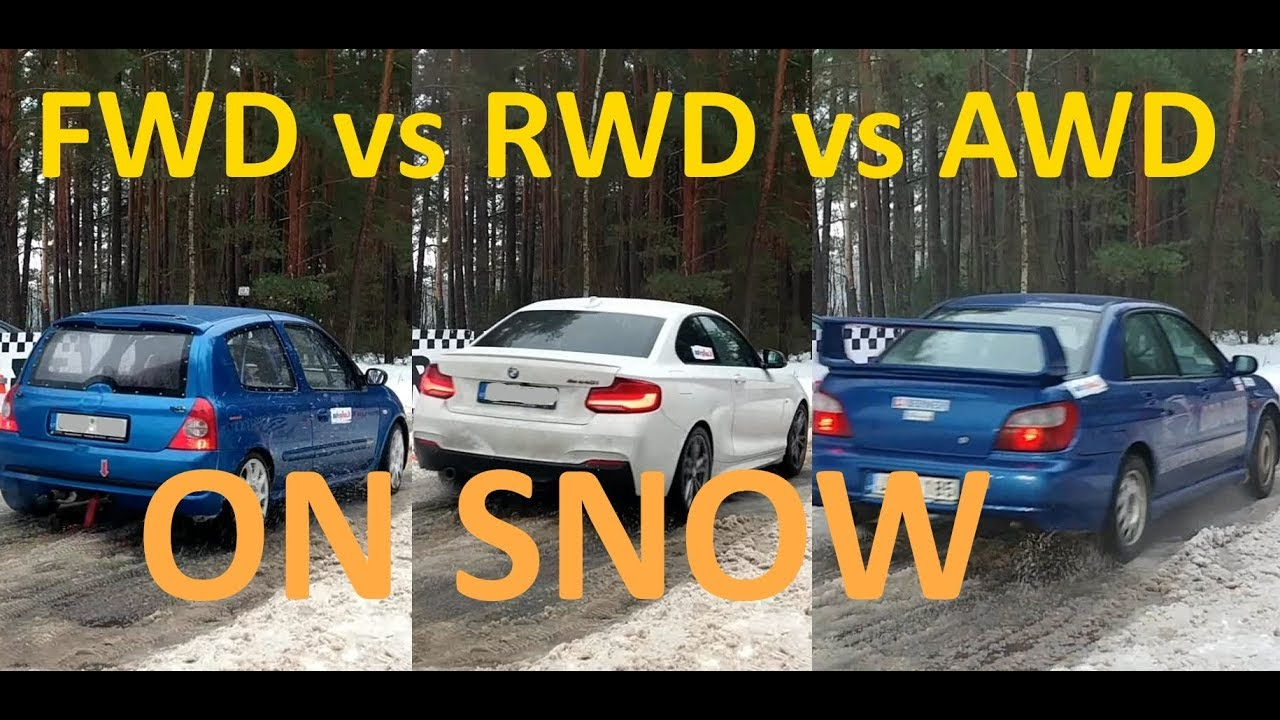 Fwd Vs Rwd Vs Awd On Snow Launch Compilation