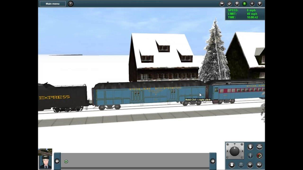 the polar express in trainz railroad simulator youtube