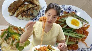 박막례할머니 국수 밀키트 먹기. 간장국수 묵은지비빔국수
