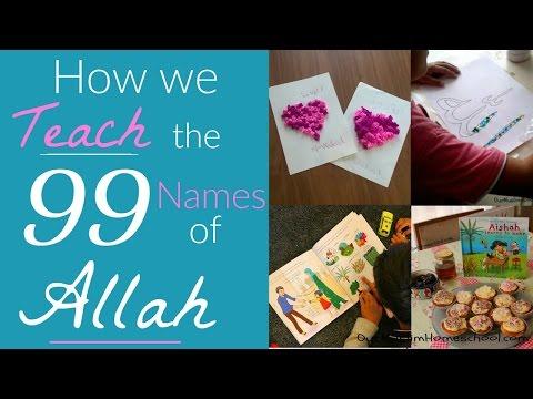 How we Teach the 99 Names of Allah