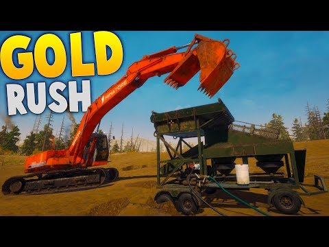 Gold Rush - Making Real Money Gold Mining! - Mobile Wash Plant Setup! - Gold Rush: The Game Gameplay