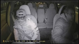 Cab company defends driver filmed swinging snow brush at customer
