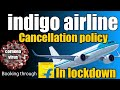 Cancellation policy of indigo flights book through flipkart in lockdown