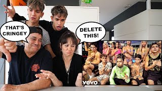 """PARENTS REACT TO OUR NEW SONG! """"You Know You Lit ft. Lil Pump"""""""