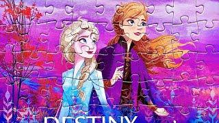 Собираем пазлы Холодное Сердце 2 с Эльзой и Анной Frozen 2 puzzles