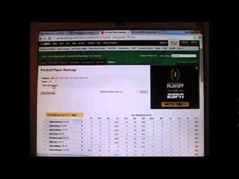 How to set autodraft settings ESPN League YouTube