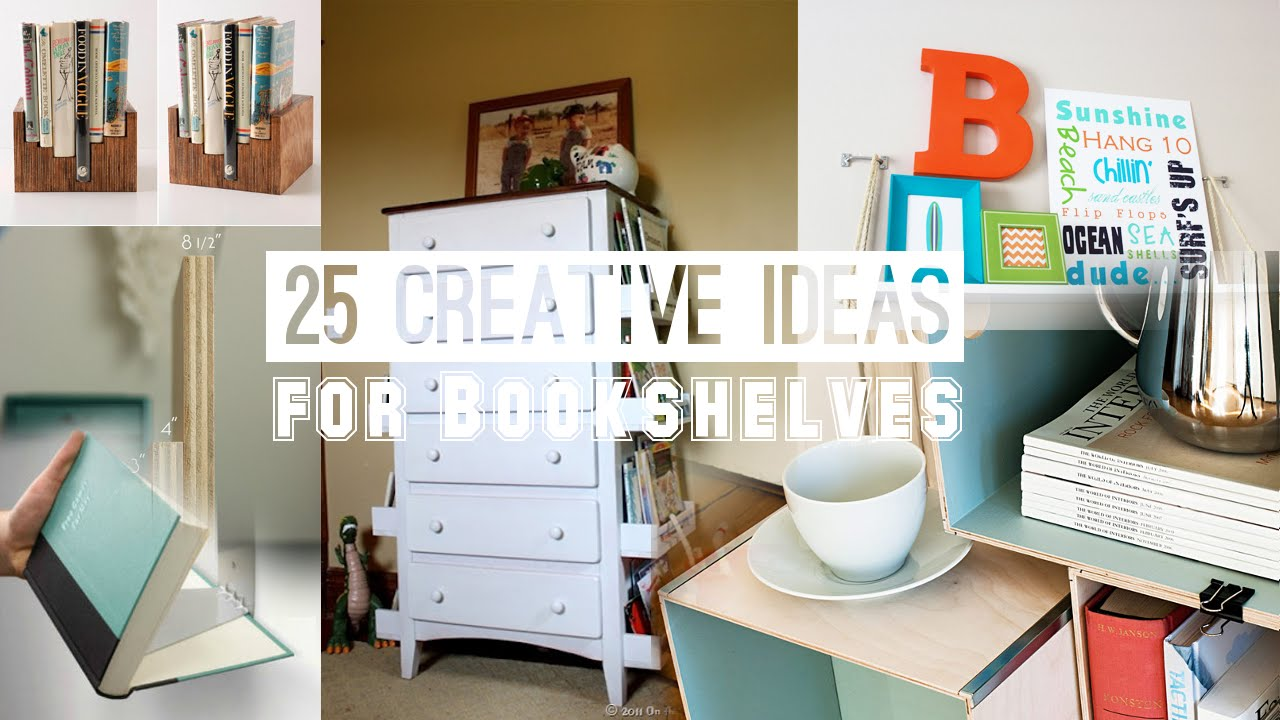 25 Creative Bookshelves Ideas Bookworms Need To Know   YouTube