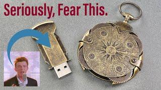 [1352] I Got Rick-Rolled Via Mail (Locking USB Drive)