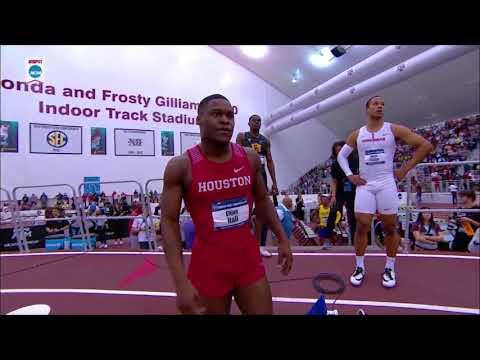 Elijah Hall 20.02 (AR)  - 2018 NCAA Indoor 200m