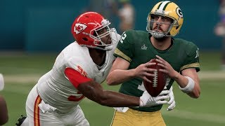 Madden 20 Gameplay - Super Bowl I Rematch Green Bay Packers vs Kansas City Chiefs - Madden NFL 20