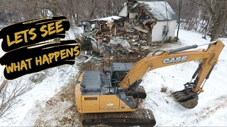 First Day on the Job and He Has to Demolish a House