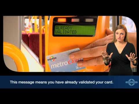 Validating Your Metrocard Or Metroticket