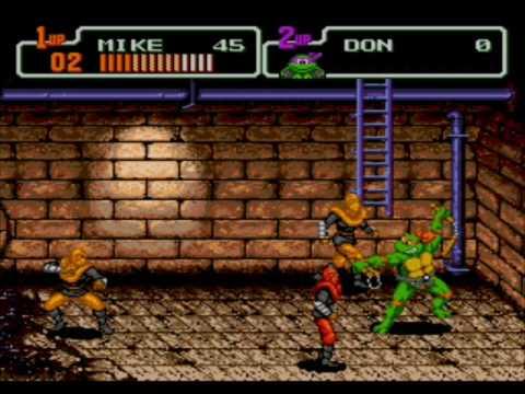 Sega Genesis Teenage Mutant Ninja Turtles The