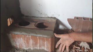 Colocando a fornalha e preparando forno do meu fogão à lenha!