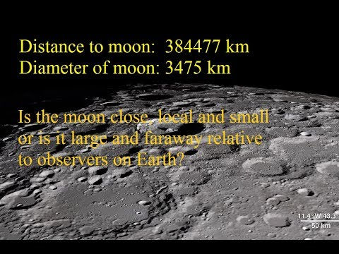 Debunking Flat Earth- Is the moon close and small or large and faraway? thumbnail