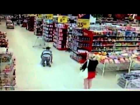 - video gracioso - accidente con el carrito del supermercado