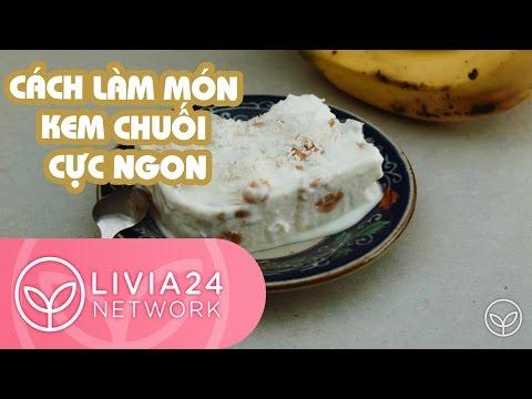 Cách làm món kem chuối cực ngon và đơn giản - Frozen banana ice cream recipe | Olivia 24