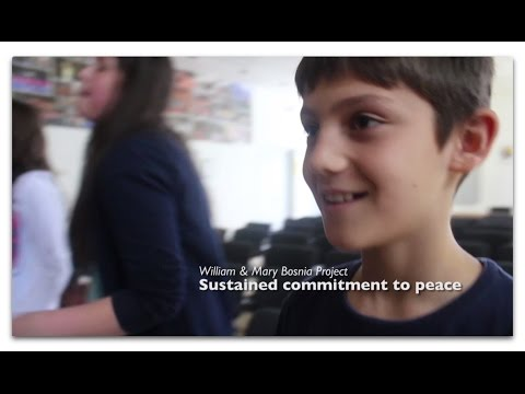 The Bosnia Project: Sustained commitment to peace