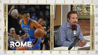 Russell Westbrook vs. Jazz Fan  | The Jim Rome Show