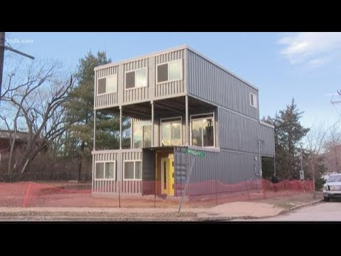 Home made from old shipping containers