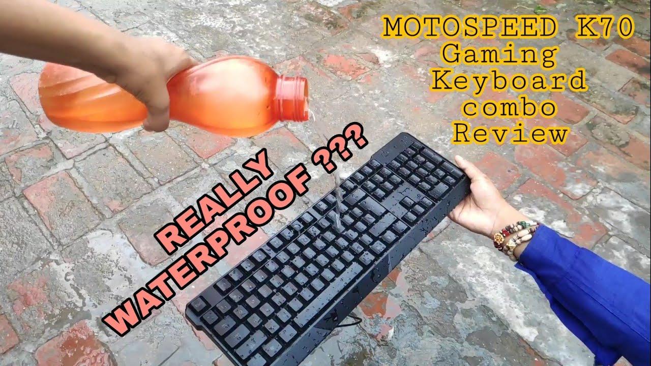 Is this waterproof? Motospeed K70 Gaming keyboard combo Review