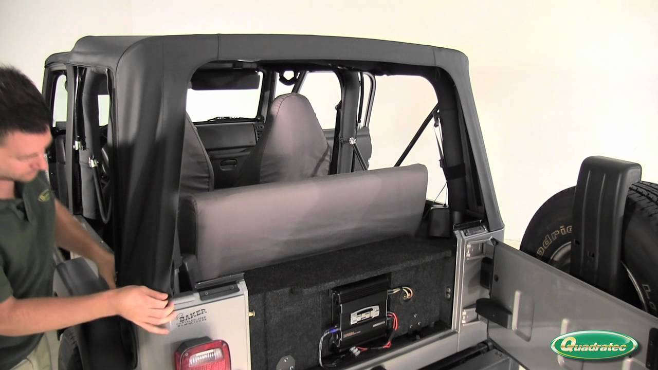 Awesome QuadraTop Soft Top Installation For 97 06 Jeep Wrangler   YouTube