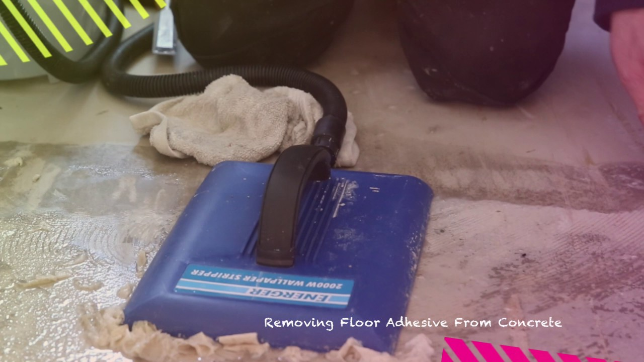 How to removing floor adhesive from concrete youtube how to removing floor adhesive from concrete baanklon Images