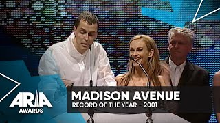 Madison Avenue win Record Of The Year   2000 ARIA Awards
