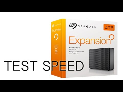 Speed test of Seagate Expansion 4TB Portable External Hard Drive USB 3.0