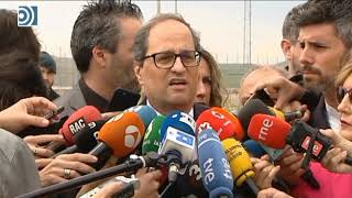 Quim Torra pide la libertad de los ex consejeros encarcelados para que puedan tomar posesión