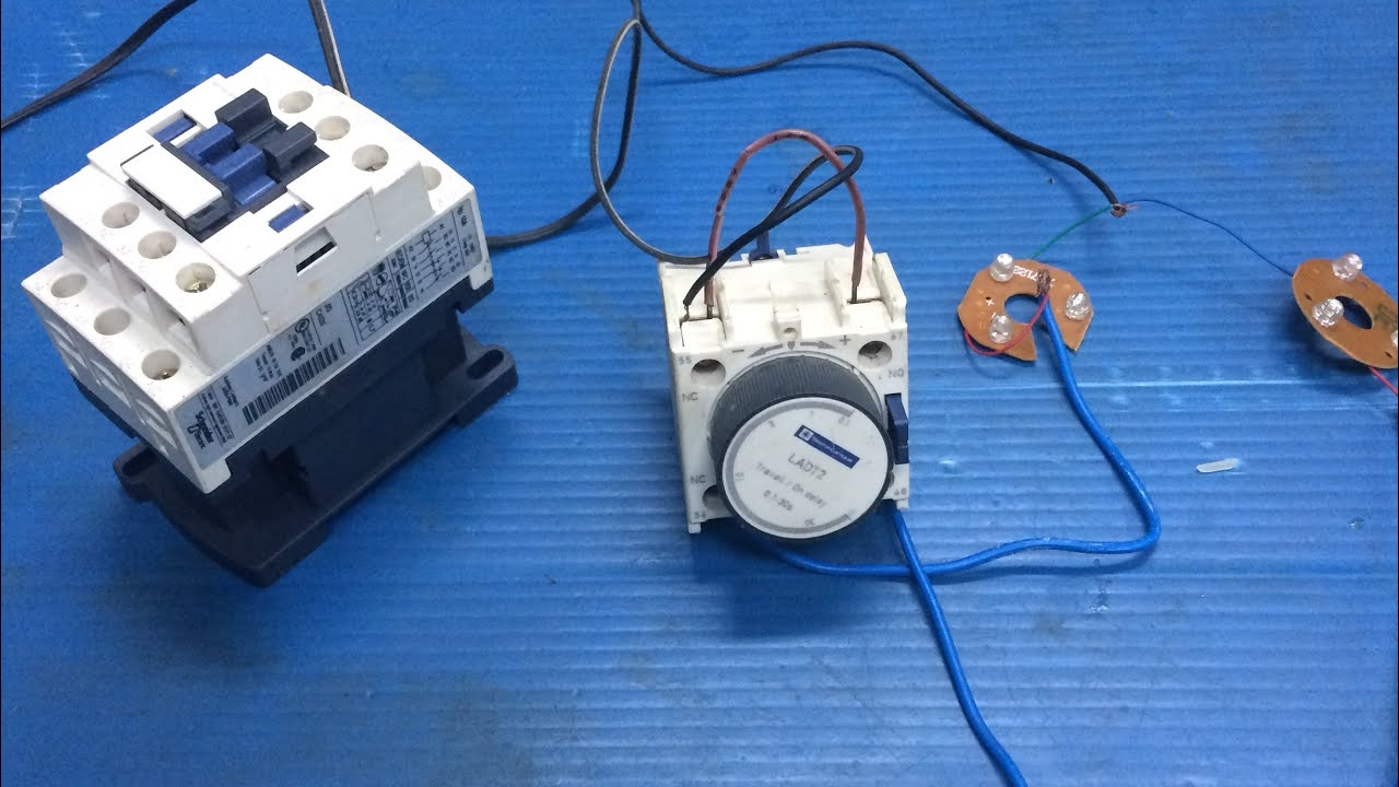 star delta timer d delay contactor block timer in mechanical type tamil [ 1280 x 720 Pixel ]